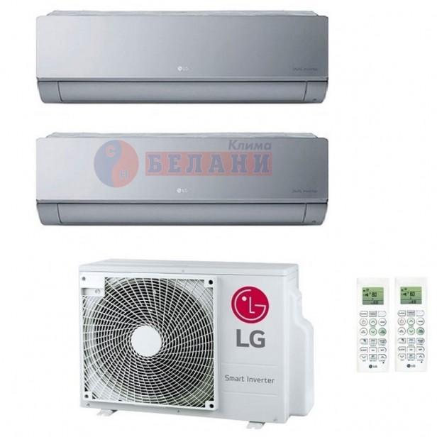 Вътрешно-високостенен LG ARTCOOL Mirror AC09SQ.NSJ -(Silver) за мултисплит