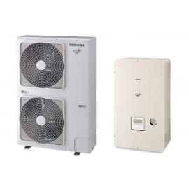 Термопомпа Toshiba Estia HWS-P1104XWHT6-E/HWS-P1104HR-E, 18 kW