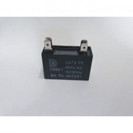 Кондензатор, квадратен 1,00μF, ±5%, 450V AC с клеми