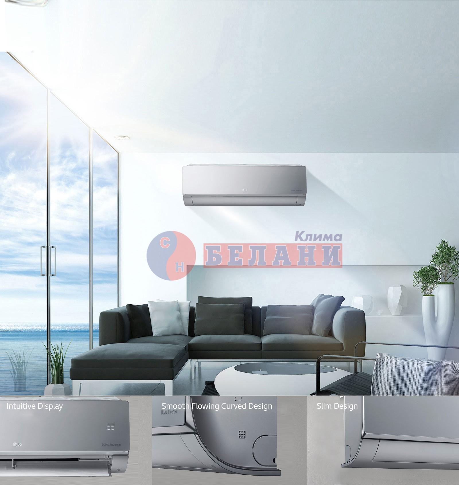 LG ARTCOOL Silver Wi-Fi AC12SQ.NSJ / AC12.UA3 WI-FI, 12000 BTU, Клас A++